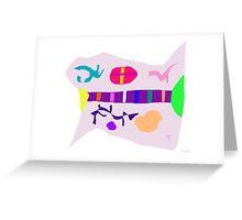 Various Things Abstract Art Greeting Card