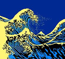 The Great Hokusai Wave Pop Art Style by Garaga