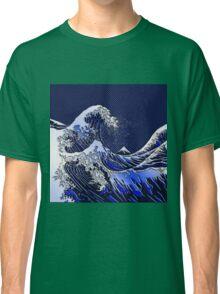 The Great Hokusai Wave chrome carbon fiber styles Classic T-Shirt