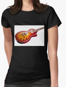 Les Paul Guitar Cherry Sunburst Womens Fitted T-Shirt