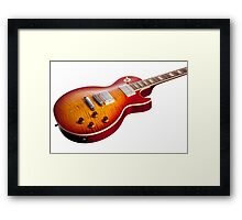 Les Paul Guitar Cherry Sunburst Framed Print