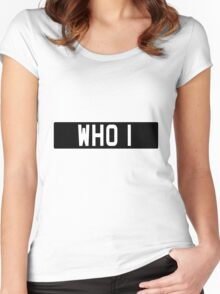 Doctor Who Bessie Numberplate Women's Fitted Scoop T-Shirt