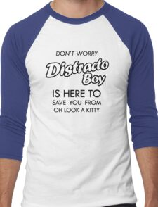 Distracto Boy Is Here! Oh Look A Kitty Men's Baseball ¾ T-Shirt