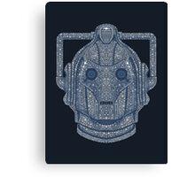 Snowflake Cyberman - Silver Canvas Print