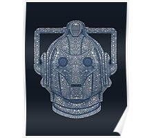 Snowflake Cyberman - Silver Poster