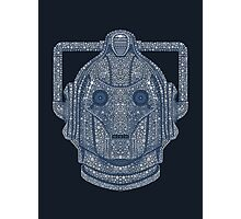 Snowflake Cyberman - Silver Photographic Print