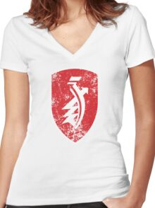 Distressed classic Zündapp emblem Women's Fitted V-Neck T-Shirt