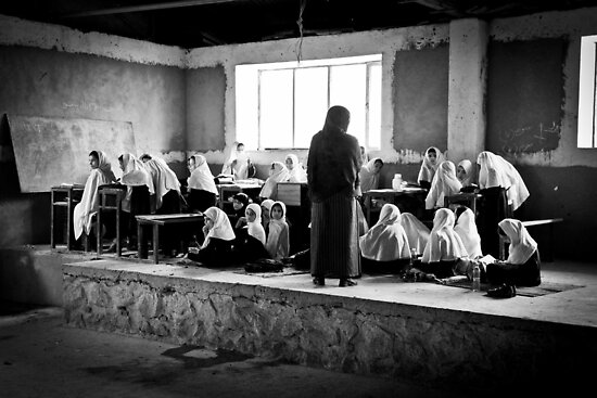 Girls Classroom by David R. Anderson