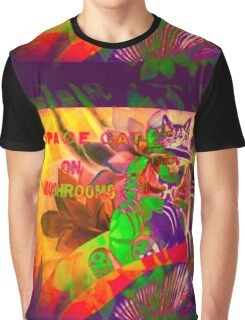 9427 Space Cat Graphic T-Shirt
