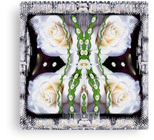Fly with roses and wings into freedom Canvas Print