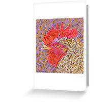 Neon Chanticleer Greeting Card