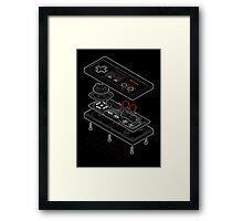 Blueprint Famicom Framed Print