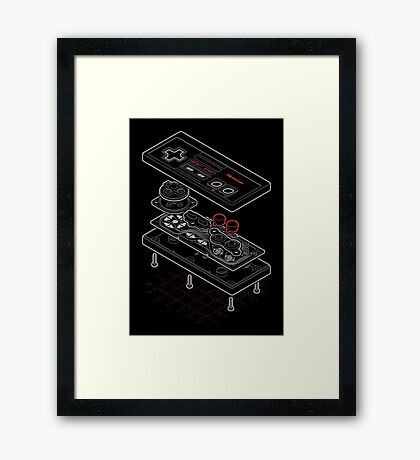 Blueprint Famicom Framed Print