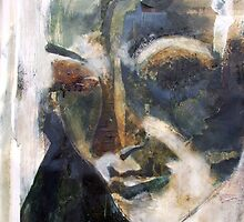 Untitled- Mixed media Portrait by Lyndsey O'Connell