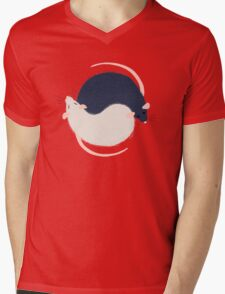 Ratty Love - Ying Yang Mens V-Neck T-Shirt