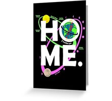 Home. Earth. Science. Greeting Card