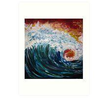 Angry Wave Art Print