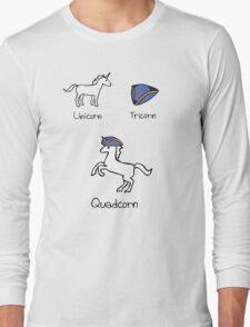 Unicorn + Tricorn = Quadcorn Long Sleeve T-Shirt
