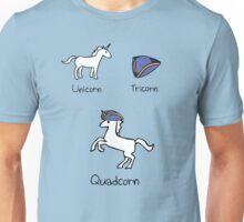 Unicorn + Tricorn = Quadcorn Unisex T-Shirt