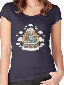 """Mr. Ohmz"" the Buddha Bot v6 Women's Fitted Scoop T-Shirt"