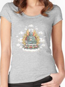 """""""Mr. Ohmz"""" the Buddha Bot v6 Women's Fitted Scoop T-Shirt"""