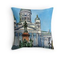 Finland Helsinki Lutheran Cathedral Throw Pillow