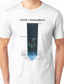 Diagram of Earth's Atmosphere Unisex T-Shirt