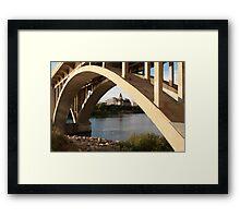 Broadway Bridge, Saskatoon, Sk. Canada Framed Print