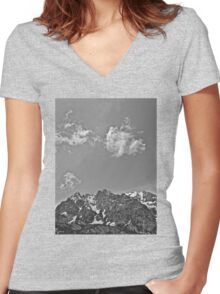 Grand Tetons Women's Fitted V-Neck T-Shirt