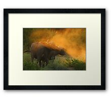 My babe and I Framed Print