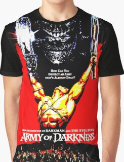 Army Of Darkness 80's Red and Black Design Graphic T-Shirt
