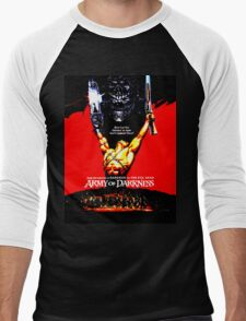 Army Of Darkness 80's Red and Black Design Men's Baseball ¾ T-Shirt