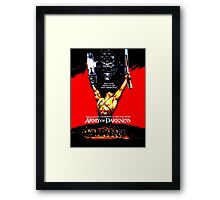 Army Of Darkness 80's Red and Black Design Framed Print