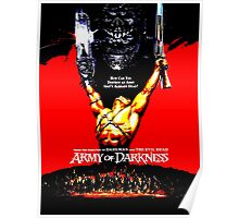 Army Of Darkness 80's Red and Black Design Poster