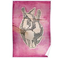 Bunny Love (on wood)  Poster