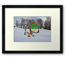 This Cat Loves Winter Framed Print