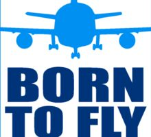 born to fly logo wing aircraft pilot crest Sticker