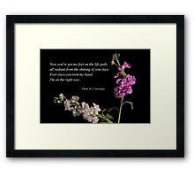 Psalm 16:11 Framed Print