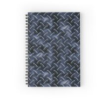 Diamond Plate - Dark Spiral Notebook