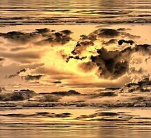Golden Microburst by kenspics