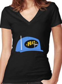 Hat FM Women's Fitted V-Neck T-Shirt