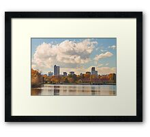 Denver Colorado Skyline Autumn View Framed Print