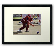 M.B.A. Bowler no. a296 Framed Print
