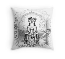 The Long Neck Twins of Gilamore Throw Pillow