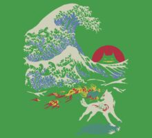 The Great Wave off Oni Island Kids Tee