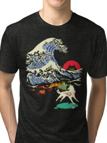The Great Wave off Oni Island Tri-blend T-Shirt