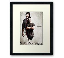 Supernatural Poster Framed Print