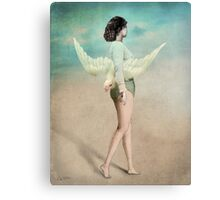 She took her wings and walked Canvas Print