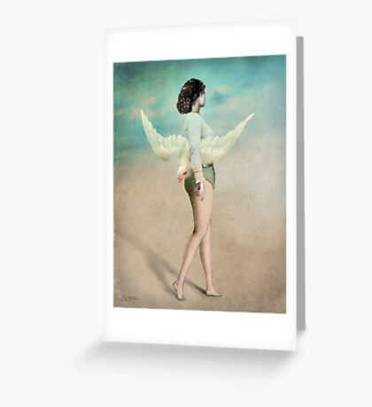 She took her wings and walked Greeting Card