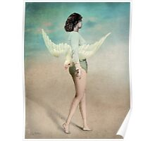 She took her wings and walked Poster